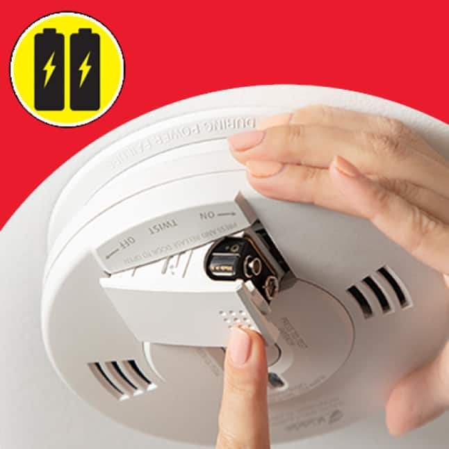 No wires, smoke alarms run only on batteries