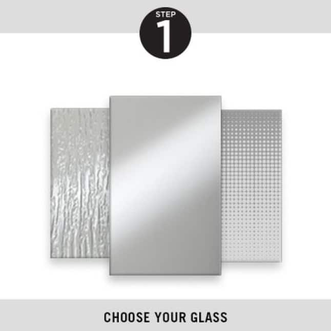 Step One, Pick Your Glass, Delta Pivot Shower Doors