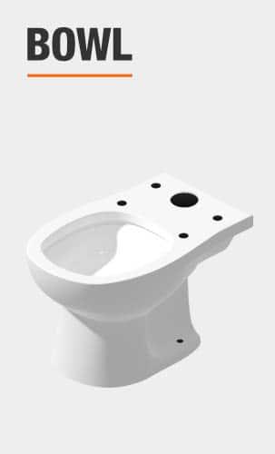 glacier bay toilet bowl included