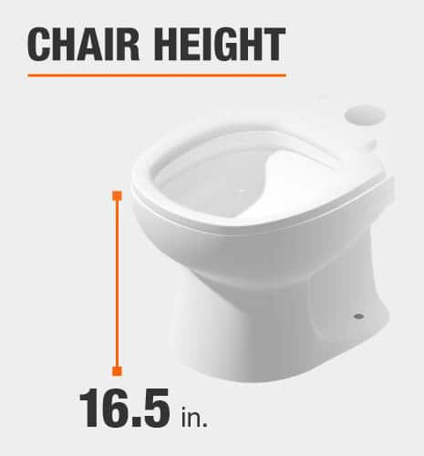 glacier bay toilet chair height