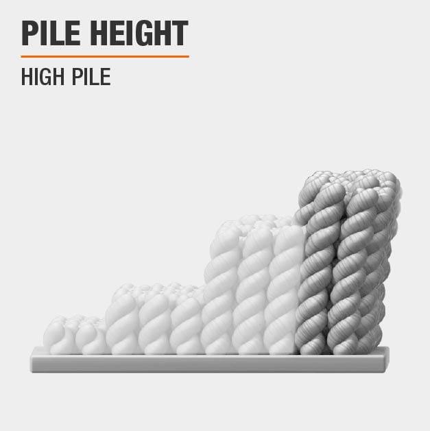 Area Rug has a High Pile height