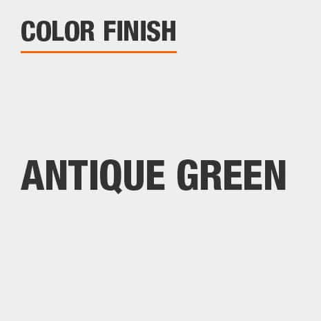 This bathroom vanity mirror color finish is Antique Green