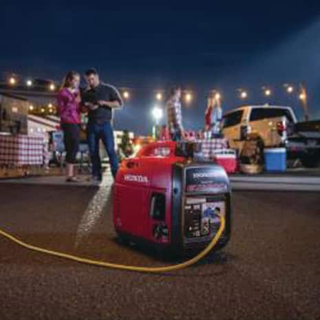 EU2200 powering lively tailgate party