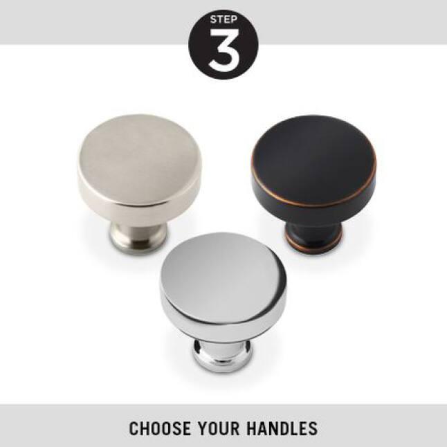Step 3, Choose Your Handles, Delta Pivot Shower Doors