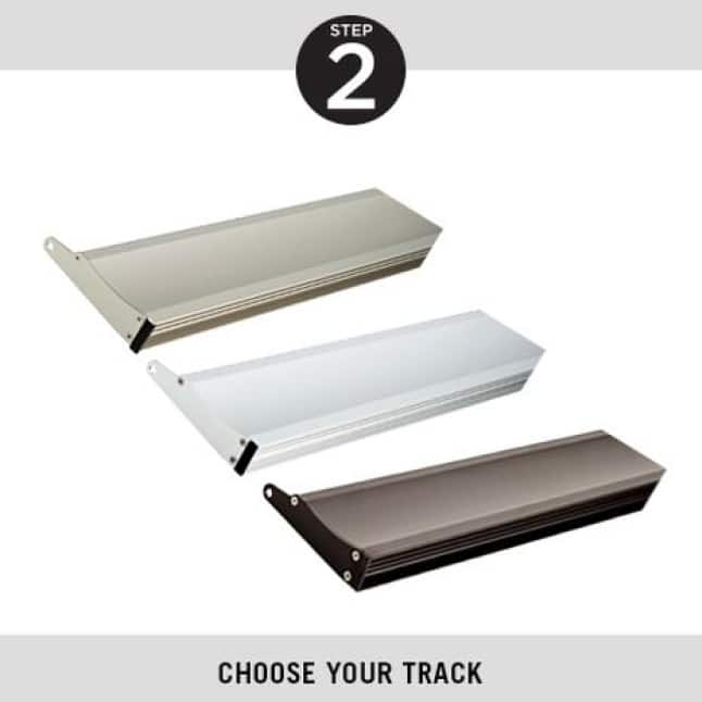 Step Two, Choose Your Track, Delta Pivot Shower Doors