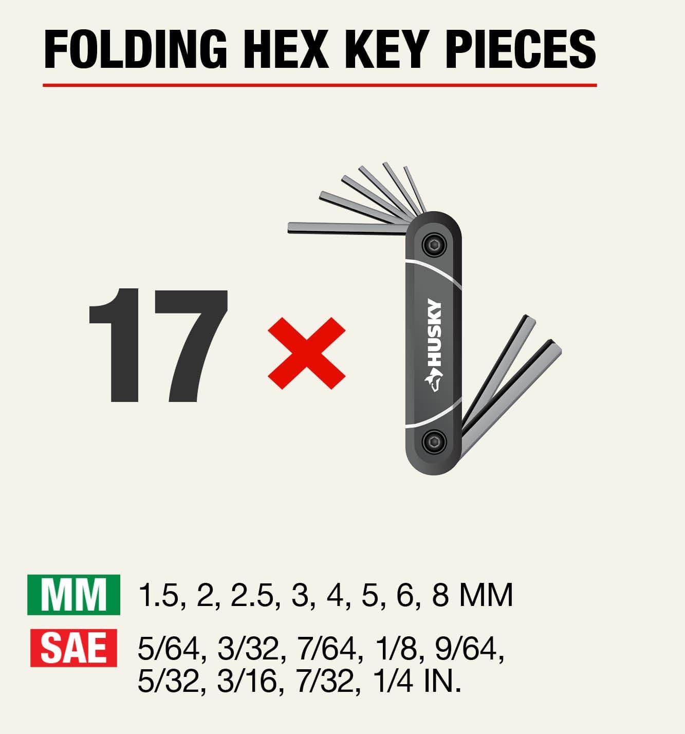 Husky Folding Ball-End Hex Keys