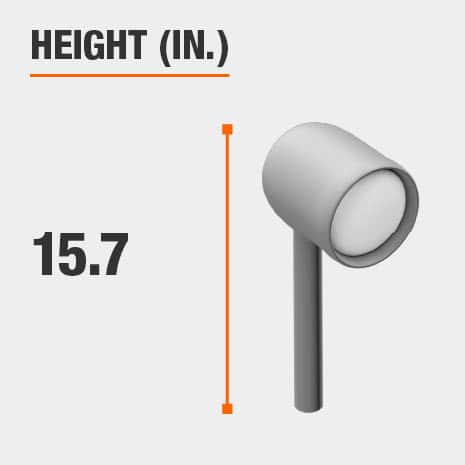 This light's height is 15.7 inches.