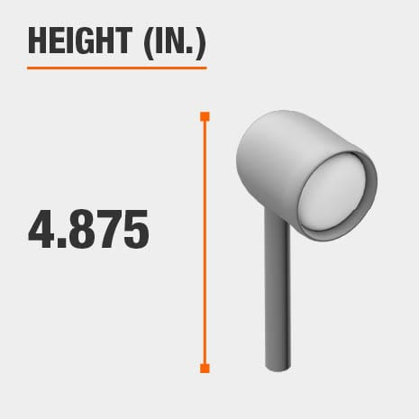 This light's height is 4.875 inches.