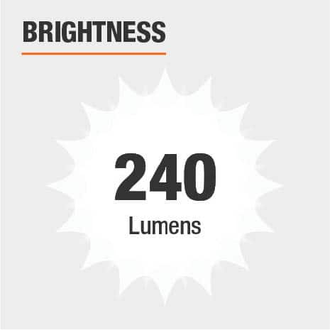 This light's brightness is 240 Lumens.
