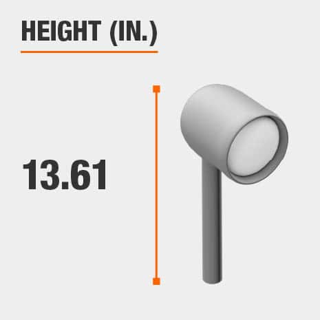 This light's height is 13.61 inches.