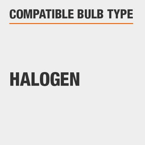 This light is compatible with Halogen bulbs.