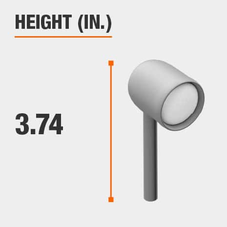 This light's height is 3.74 inches.