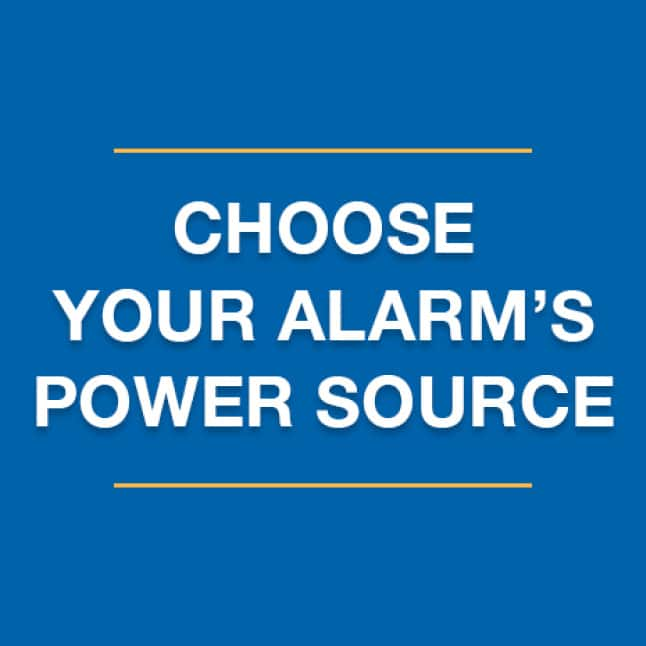 Identify current power situation, choose the right carbon monoxide alarm
