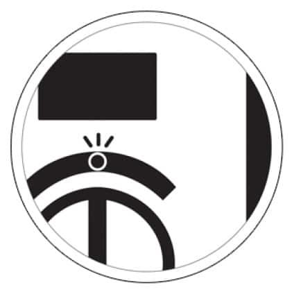 LED light alerts condition of the carbon monoxide alarm