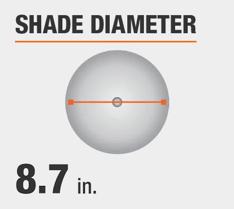 Shade Diameter: 8.7 in.