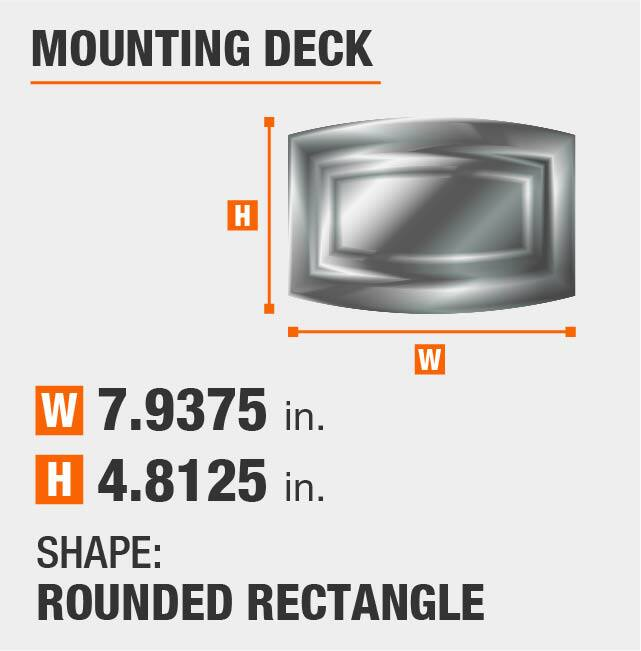 Rounded Rectangle Mounting Deck