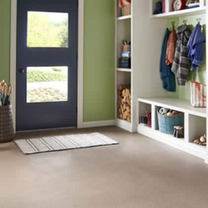 Mudroom coated with Granite Grip Tan tone color Pebble Stone GG-13