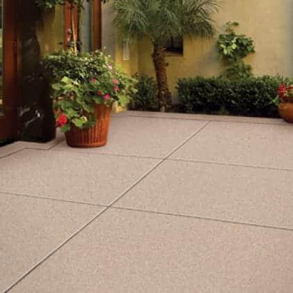 Concrete porch coated with Granite Grip Tan tone color Tan NO.655