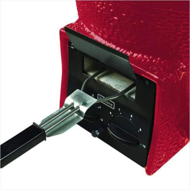 Red charcoal grill from Vision-Grills