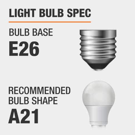This pendant requires a E26 bulb base, and a A21-shaped light bulb is recommended.