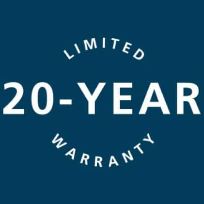 20-year limited warranty icon