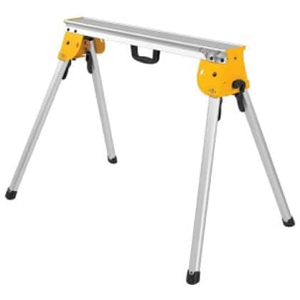 DWX725 Supports up to 1,000lbs. and weighs only 15.4 lbs. (no Miter Saw Brackets included)