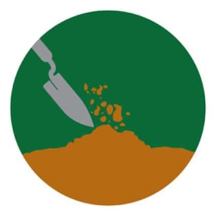 Spread Garden Soil icon.