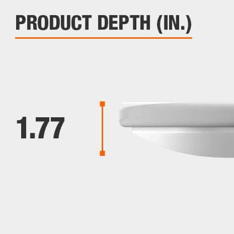 This light fixture has a depth of 1.77 inches.