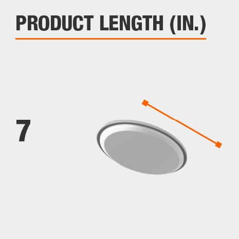 This light fixture has a length of 7 inches.