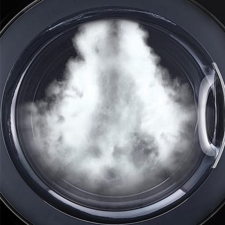 Close up of a LG Steam Technology inside front load washer