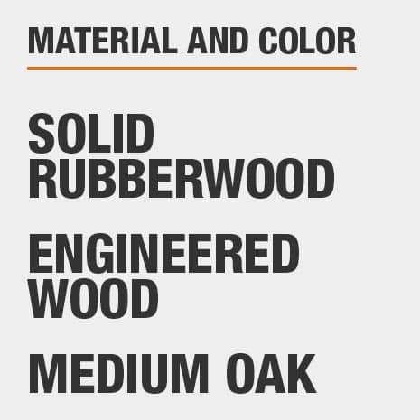 Medium Oak Engineered Wood Solid Rubberwood  File Cabinet