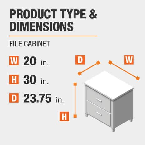 File Cabinet Product Dimensions 20 inches wide 30 inches high
