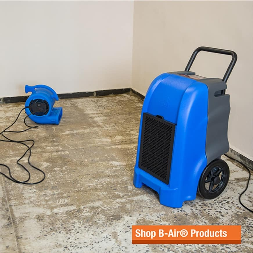 B-Air® water damage restoration equipment design is constantly evolving based on the needs of the professionals in the field.