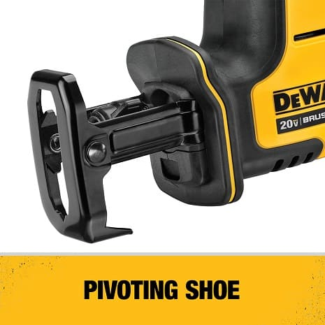 Pivoting shoe provides more points of contact and added control for a variety of jobs