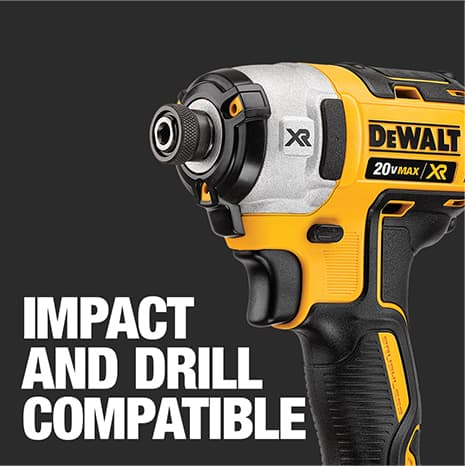 Engineered with hex shank for compatibility in both impact drivers and drills