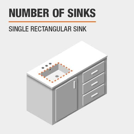 Bath vanity is made for a single sink vanity top
