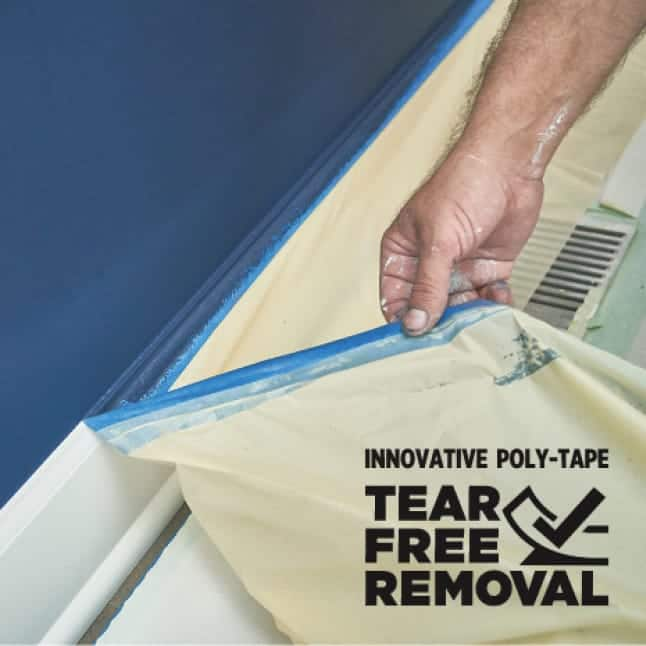 ScotchBlue Ultra Sharp Lines and Scotch Exterior Surface Painter's Tape feature poly backing for tear-free removal
