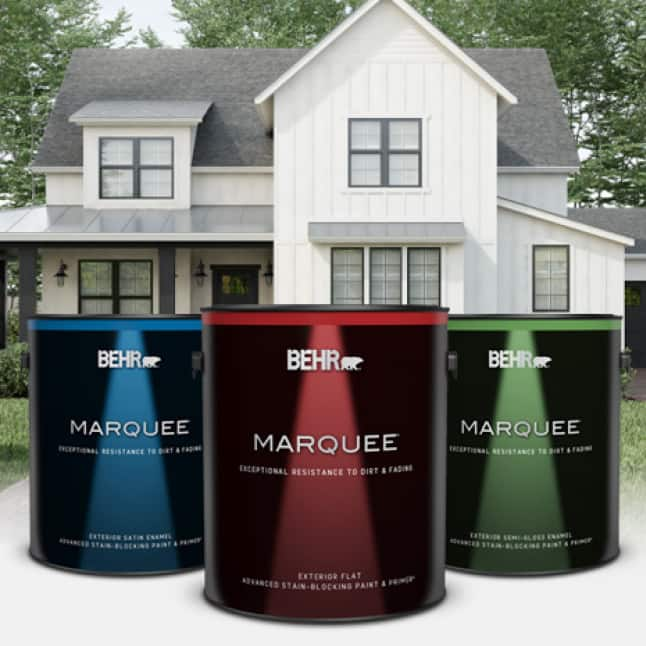 BEHR MARQUEE Exterior Paint cans