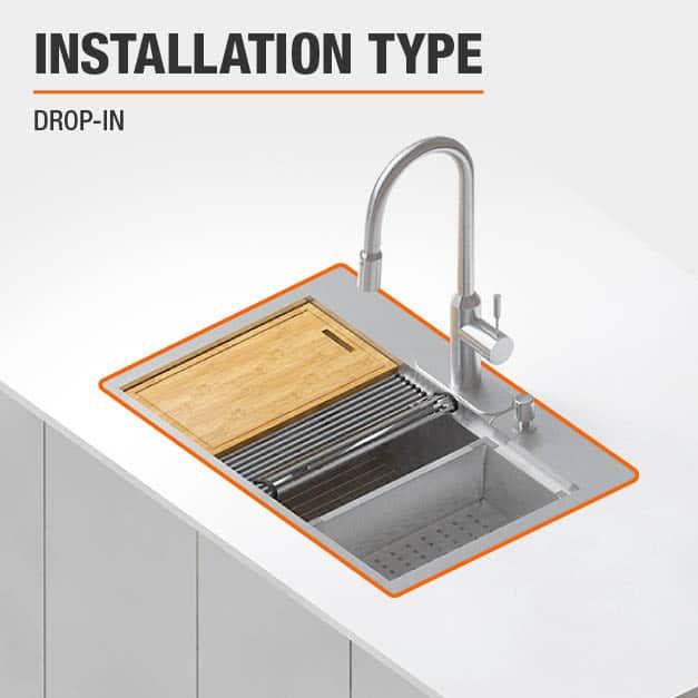 Sink Installation Type Drop-in