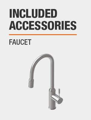 Sink Includes Faucet
