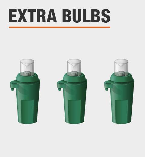 Extra Bulbs Included