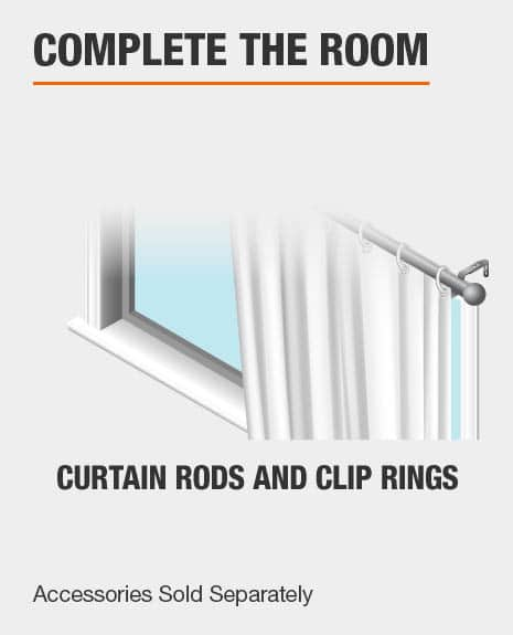 Match with Curtain Rods and Curtain Rod Clip Rings