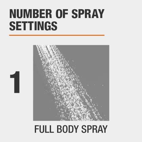 1 full body spray setting
