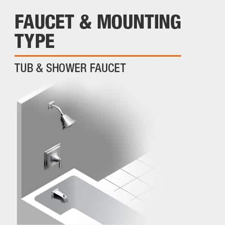 Wall Mounted Tub & Shower Faucet