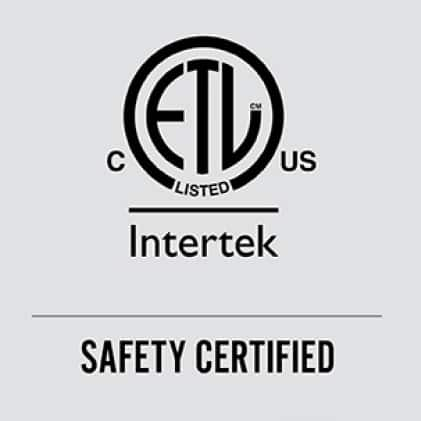 The ETL mark is proof of B-Air® compliance and commitment to North American safety standards.