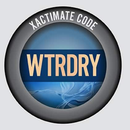 Use the Xactimate code for writing estimates to seamlessly resolve water damage claims.