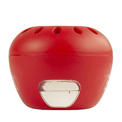 fruit fly trap has an attractive apple-shaped design