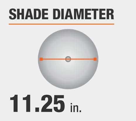 Shade Diameter: 11.25 in.