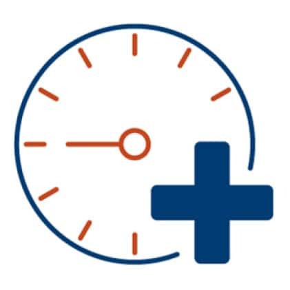 An icon of a timer's face. An addition symbol is superimposed over the lower right corner of the timer.