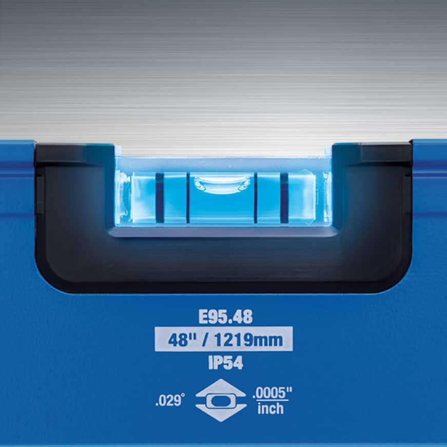 Concentrated surround dual LEDs, UV activated optical brightener, high-contrast e-BAND vial provide best-in-class visibility.